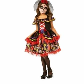 Disfraz Catrinita deluxe para niña