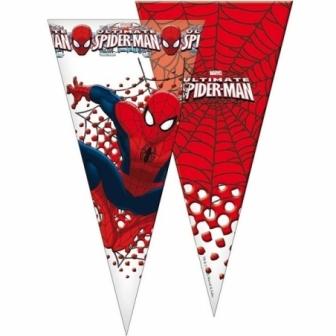 Bolsa cono Spiderman 6 unid.