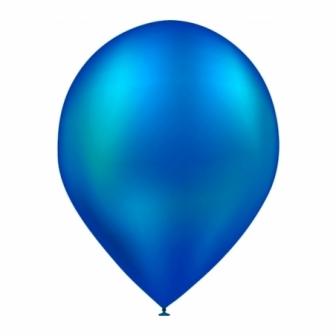 Bolsa 50 Globos metalizados azul marino