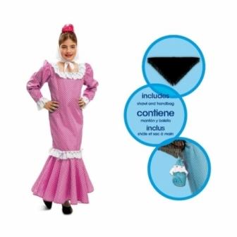 Disfraz Madrileña Rosa para niña y bebe