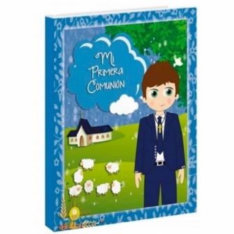 Libro comunión ovejas grande  niña/niño