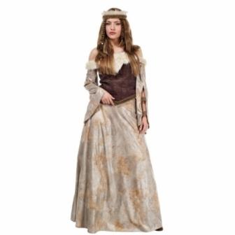Disfraz Guerrera Medieval Adulta Lujo