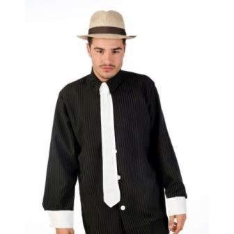 Camisa ganster con corbata