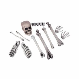 Cráneo con 11 huesos decoracion hallowee