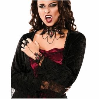 Brazalete vampira con anillo araña