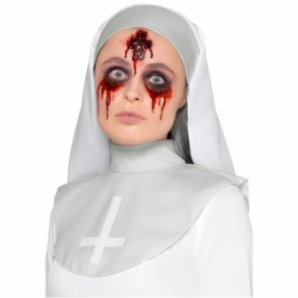 Maquillaje FXs de Herida Cruz Invertida
