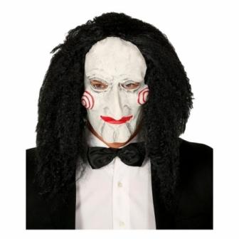 Máscara marioneta látex  con pelo