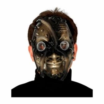 Máscara Steampunk negro/oro
