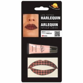 Tatuaje labios arlequin  con hidratante
