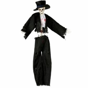 Colgante Novio Esqueleto 90cms Mov-son.