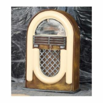 Radio Antigua 21x33 cms Luz y sonido