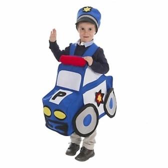 Disfraz Coche Policía infantil T.unica