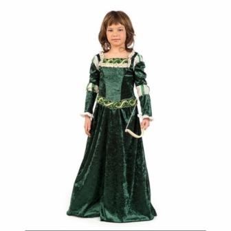 Disfraz Arquera medieval  niña deluxe
