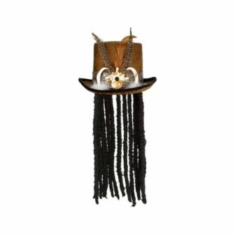 Sombrero Hechicero con peluca