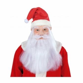 Máscara Papa Noel con sombrero y pelo