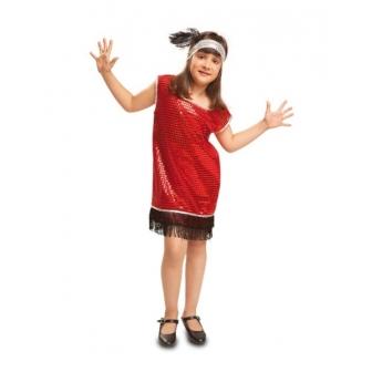 Disfraz Charleston Rojo para niña