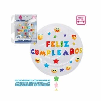 Globo Burbuja+pegatinas Emojis