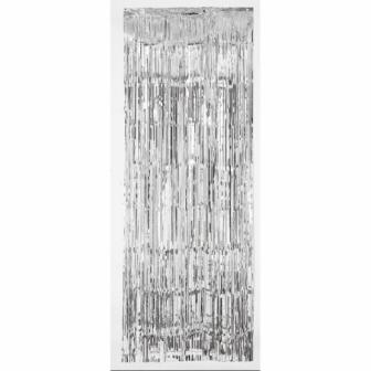 Cortina metálica decorativa plata