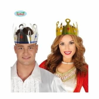Set Coronas de Rey de cartón metalizado