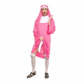 Disfraz monja rosa para hombre