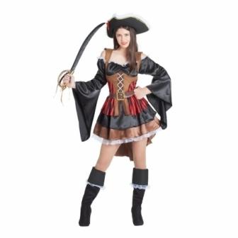 Disfraz Pirata mangas anchas para mujer
