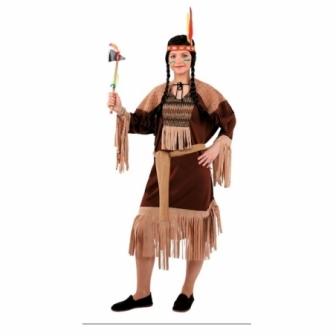 Disfraz India marrón para mujer