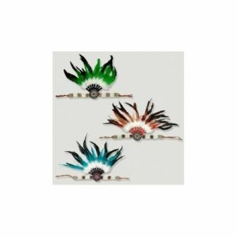 Diadema Indio con plumas 30x30cm luxe