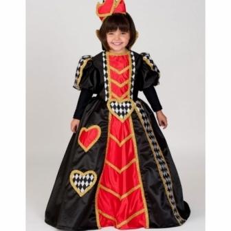 Disfraz Reina de Corazones para niña lux