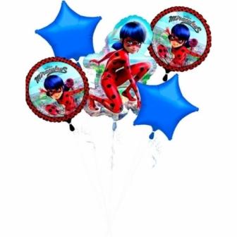 Ramo de globos foil Ladybug