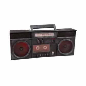 Radio cassette luz y sonido 40x16x7cm.