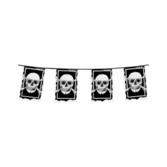 Guirnalda banderas esqueletos 6 metros