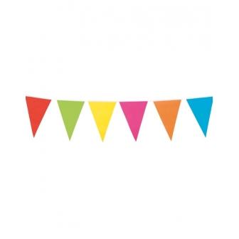 Guirnalda banderines multicolor 10 M.