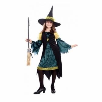 Disfraz Bruja verde para niña