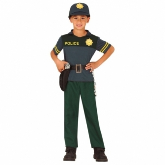 Disfraz Policía verde para niño