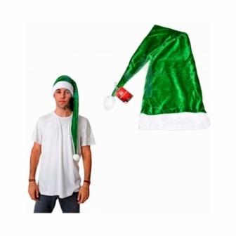 Gorro terciopelo verde largo 100 cms.