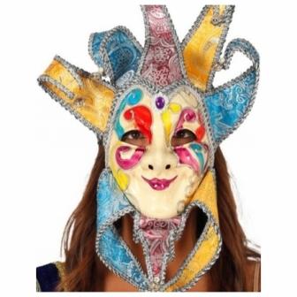 Máscara Veneciana colores c/cascabeles