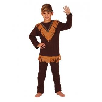 Disfraz Indio marrón para niño