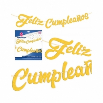 Guirnalda Feliz Cumpleaños Oro/Plata