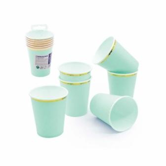 6 Vasos pastel desechables colores