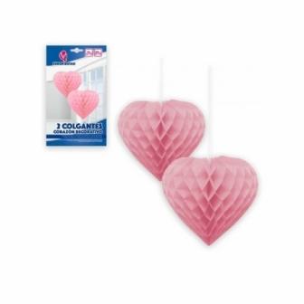 Bolas Corazón 2 uds. colores varios