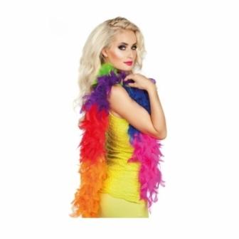 Boa plumas multicolor 50 gr. 180 cm
