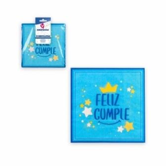 12 Servilletas colección F. Cumple Azul