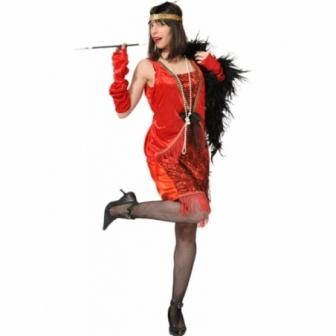 Disfraz Charleston rojo  mujer