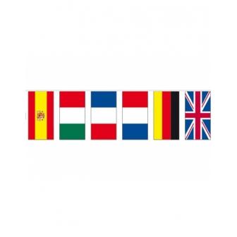 Bandera Tela 10m Internacional 6 Paises