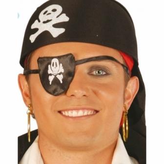 Parche Pirata Tela Calavera