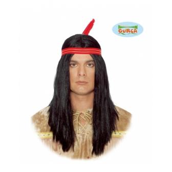 Peluca indio con cinta y pluma