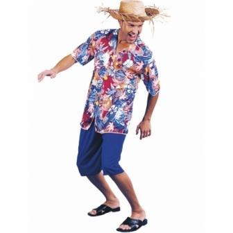 Disfraz Hawaiano Con Sombrero Adulto