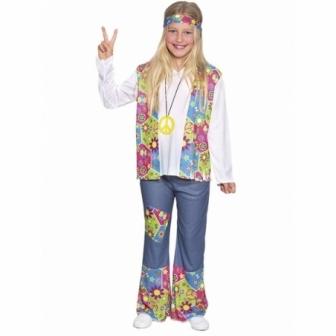 Disfraz Hippie Niña Vaquera niña
