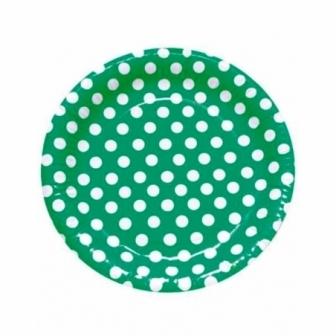 Platos Lunares Verdes Desechables