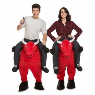 Disfraz Ride-on  Toro Rojo  Unisex T.ML